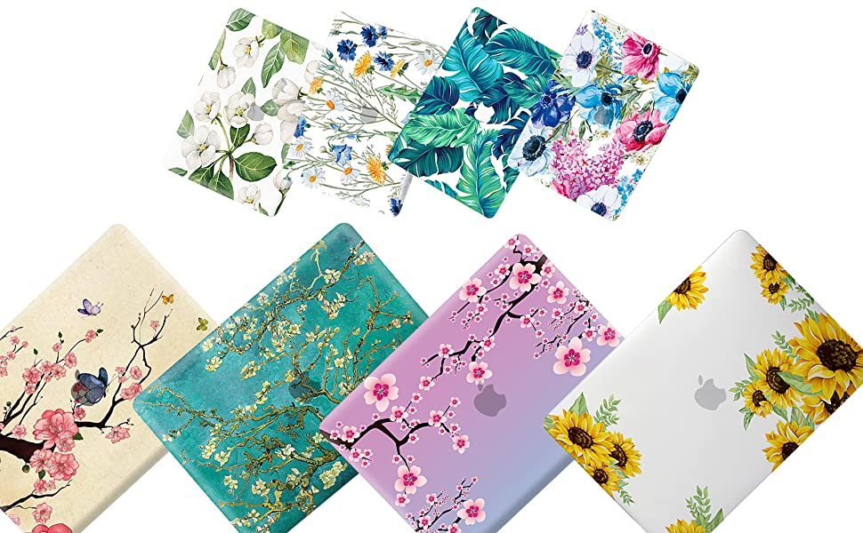 Mac Air Case Spring Cute Butterfly Bee Flower Plastic Hard Shell Compatible Mac Air 11 Pro 13 15 Laptop Hard Case Protection for MacBook 2016-2019 Version