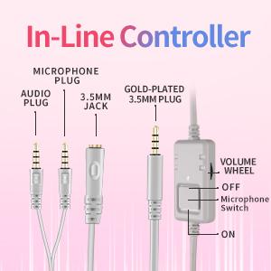 SOMiC G951S Pink Cat Ear Gaming Headphones