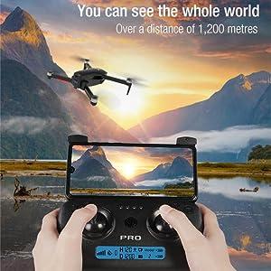 Drone with long flight range
