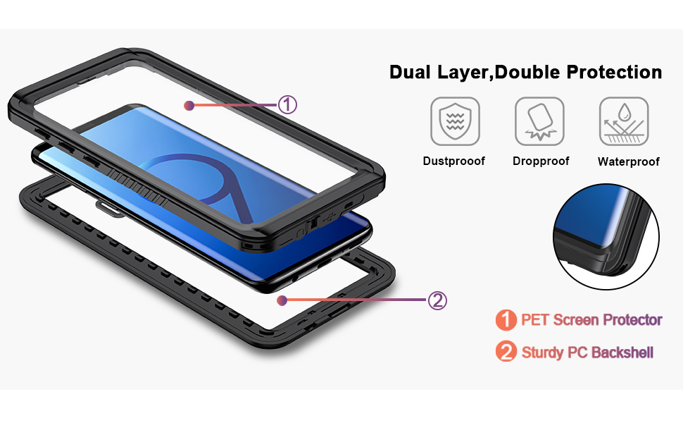 galaxy s9 case with screen protector