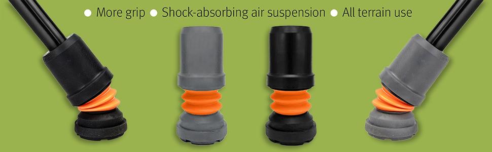22mm Shock Absorbing Ferrules for Walking Sticks Pack of 4