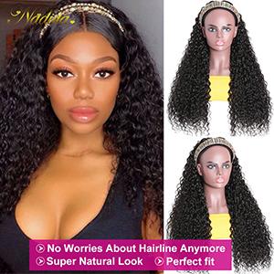 curly headband wig