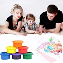 kid's finger paints
