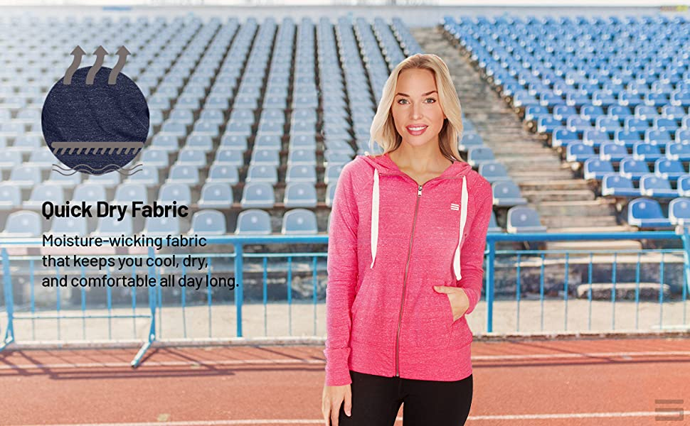 Moisture wicking quick dry fabric keep you cool, dry and comfortable all day long. Workout or casual