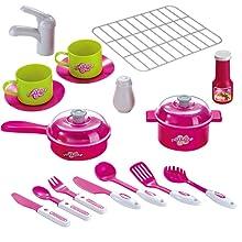 barbie kitchen set, kitchen set for girls, big kitchen set for girls, doll house kitchen set