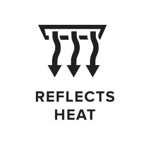 Reflects Heat