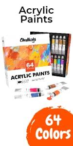 Acrylic Paint Set - Pack of 64 Colors