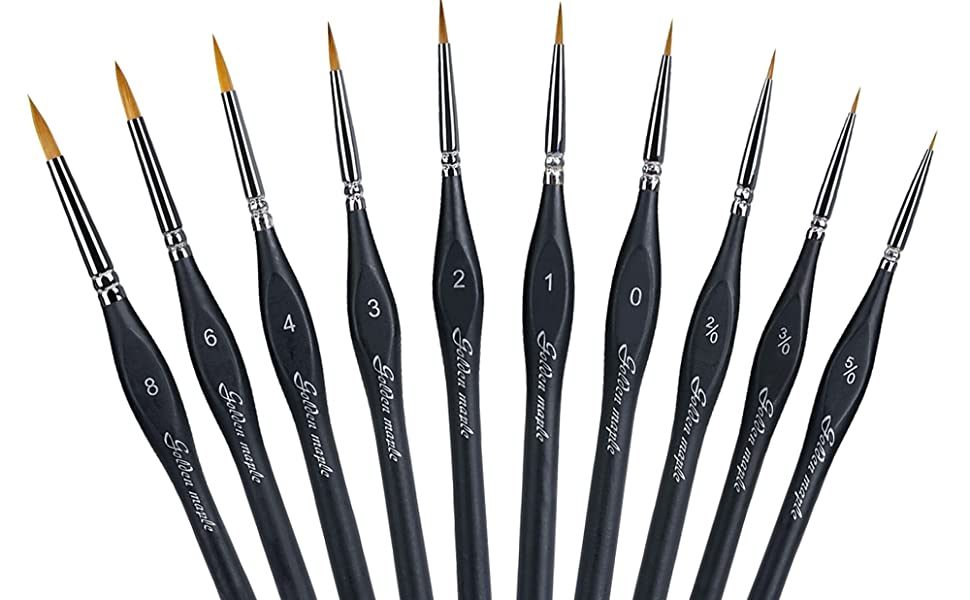 detail paint brushes