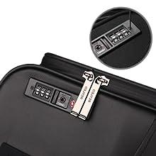 TSAダイヤルロックと内臓式ジッパー