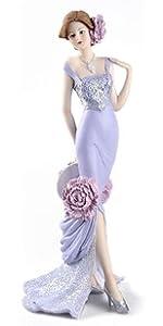 Peony Flower Purple Dress Figurine