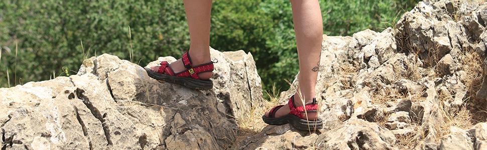 Sandalen Sandals Herren Damen Outdoor Trekking Wandern NEU SOURCE Stream