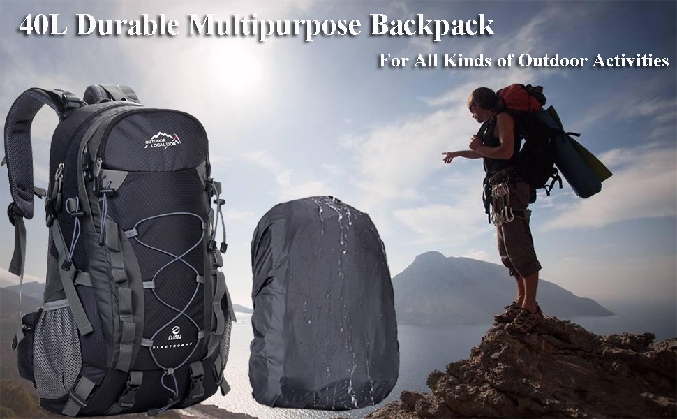A AM SeaBlue 40L Hiking Backpack for Men and Women Trekking Rucksack  Lightweight Travel Daypack with Waterproof Rain Cover,Large Sports Bag for  Outdoor Activities: Amazon.co.uk: Luggage