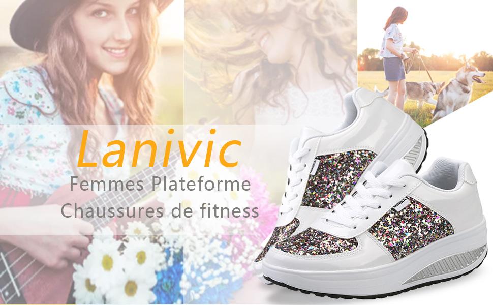 Femmes Chaussures compens/ées /à Plateforme Dames Chaussures de Fitness Orthop/édie Espadrilles de Coin Or 37