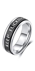 keep funking going spinner ring calm anxiety worry ring