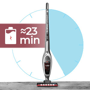 roomie tec cordless stick vacuum with long lasting battery and high power suction and auto recharge