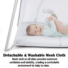 detachable and washable mesh cloth