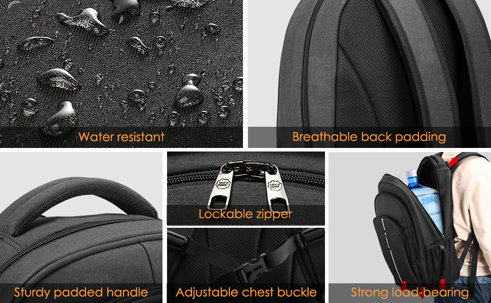 travel business school laptop backpack