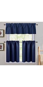 navy short curtain