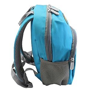 emmzoe neon toddler backpack blue side