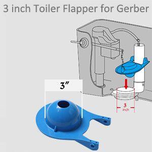 3 inch gerber toilet flapper