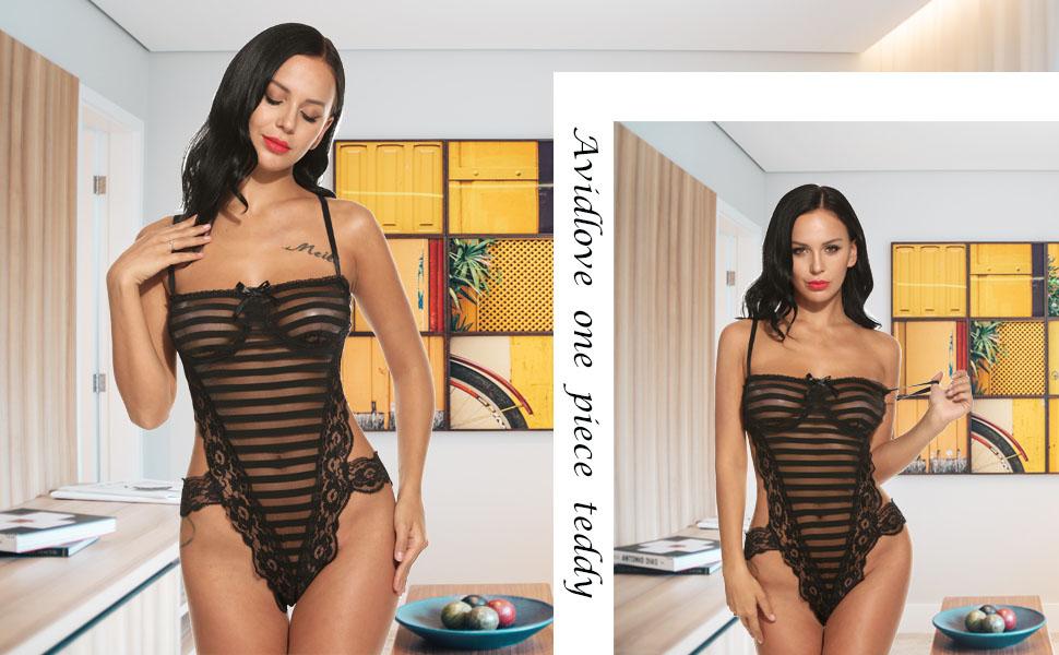 one piece lace teddy bdbydoll nightie lingerie black lingerie for women
