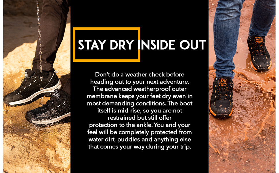 These outdoor boots will keep your feet dry and have a breathable lining