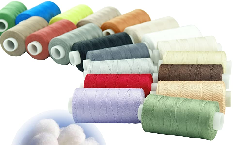 cotton thread finest quality 100/% cotton sewing all purpose  all 180m in lenght.