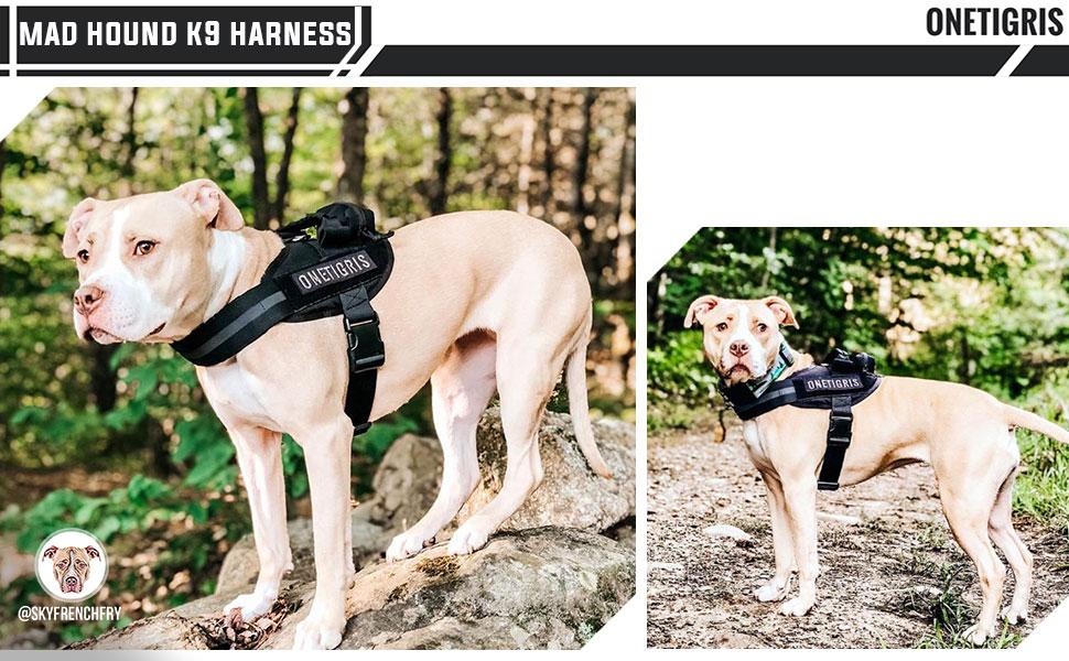 onetigris dog k9 training vest sd service pet pack harness