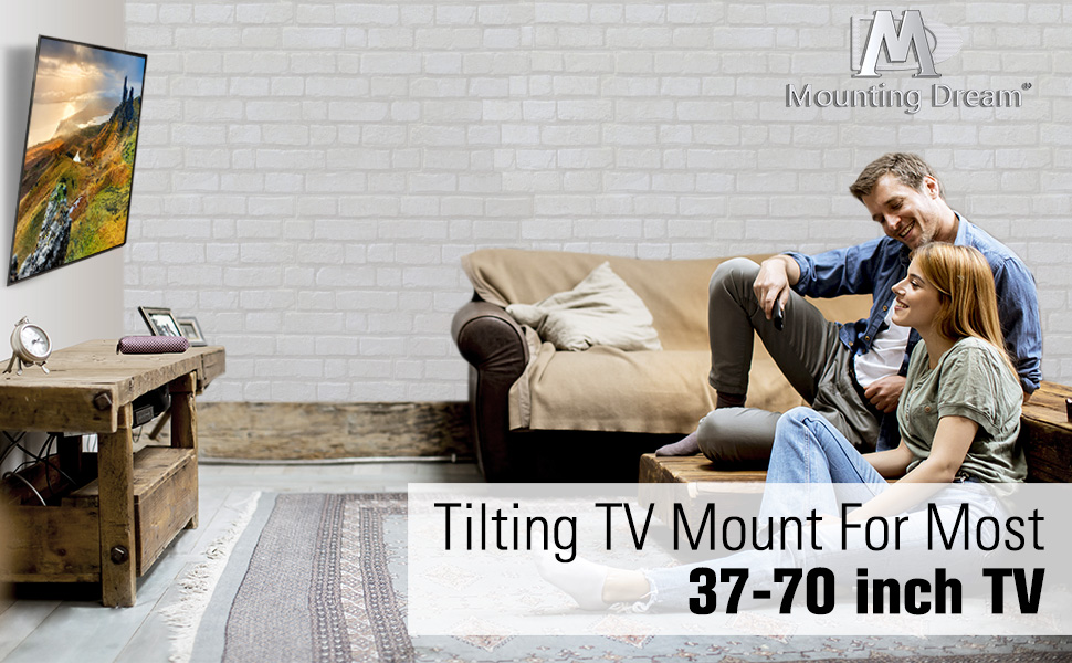 tilting tv wall mount for 37-70 inch tvs