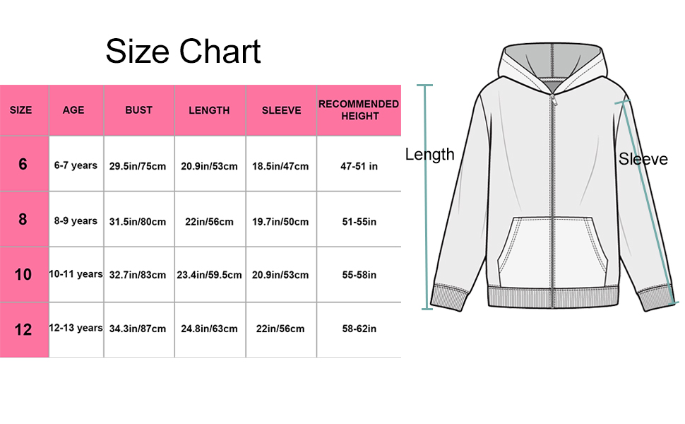 size chart for better purchase
