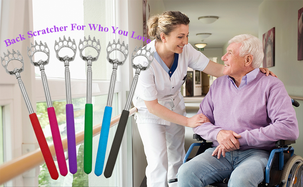 back scratchers for adults old men  extendable claw Telescoping