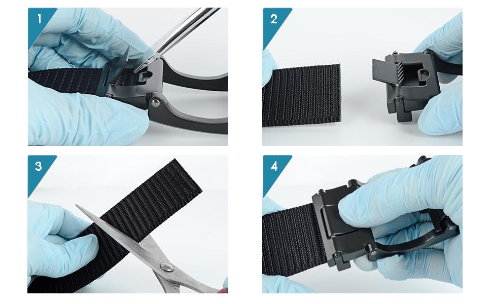 custom cut to fit belt adjustable