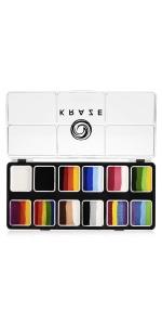 Kraze FX face paint split cake 12 colors