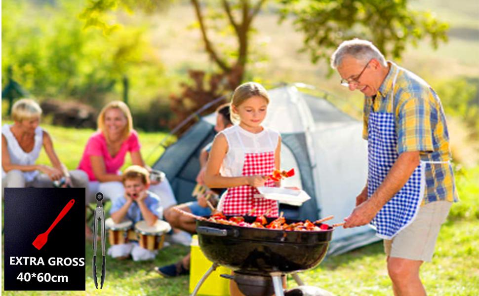 tapis barbecue plaque barbecue feuille de cuisson reutilisable