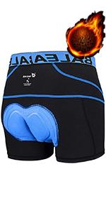 Men's Padded Bike Underwear Blue