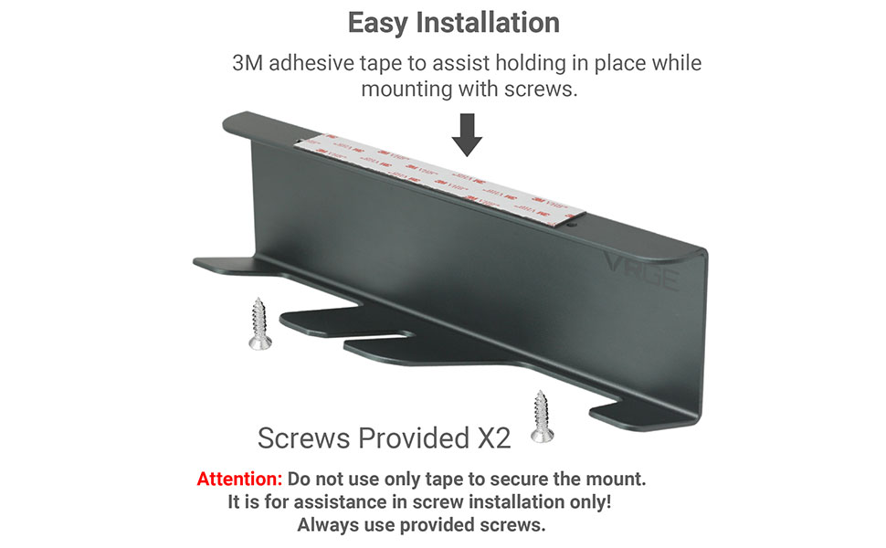Easy Install with provided screws