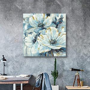 flower painting living room