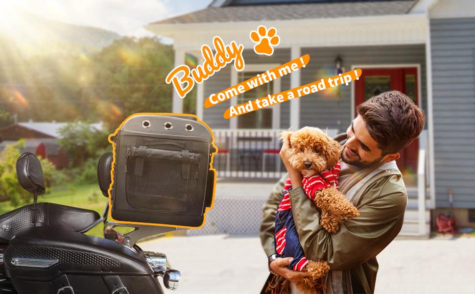 Motorcycle Dog/Cat Carrier Bag Pet Voyager