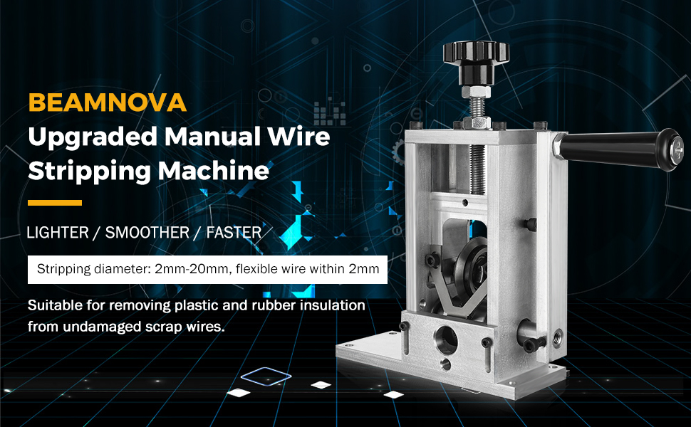 manual wire stripping machine with blades