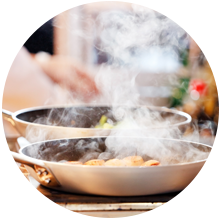 eliminate smoke and odors from smoking and cooking