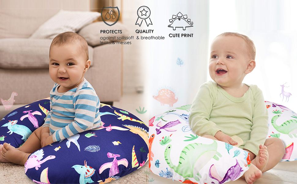 Newborn Nursing pillow Cover Dinosaur