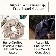 lilysilk silk hair scrunchies 100% mulberry silk scrunchie for girls curly hair long short hair soft