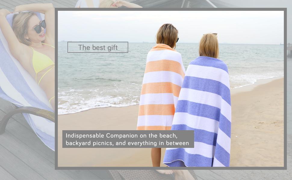 "Adult Oversized Summer Beach Swimming Pool Picnic Towel 40/"" x 72/"""