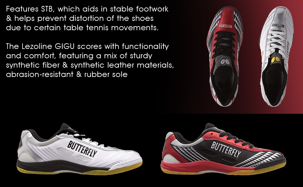 STB aids in stable footwork & helps prevents shoes distortion; Functionality, Comfort & Rubber Sole