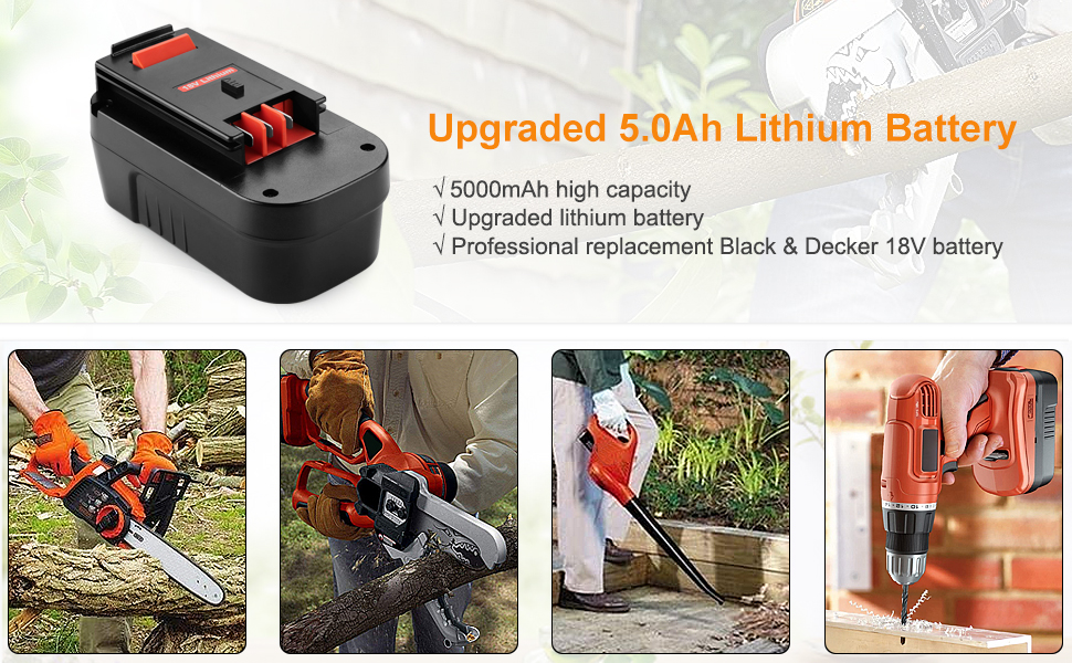 Amazon Com Antrobut 2 Pack 18v 5000mah Hpb18 Ope Lithium Battery For Black And Decker 18 Volt Battery Firestorm Battery 244760 00 A1718 Fs18fl Fsb18 Black Decker 18v Battery Home Audio Theater