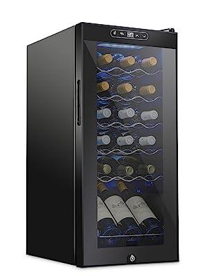 Schmecke 18 bottle wine cooler with lock