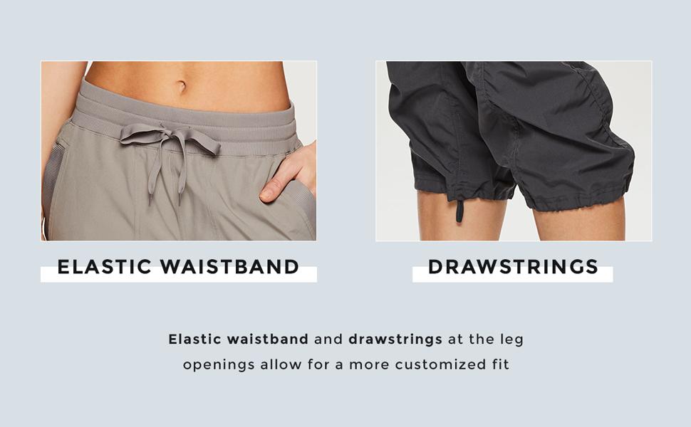 Elastic Waistband and Drawstrings