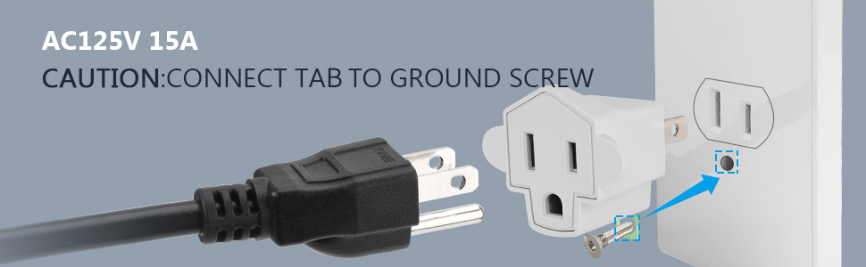 3-2 Prong Adapters Grounding Adapter