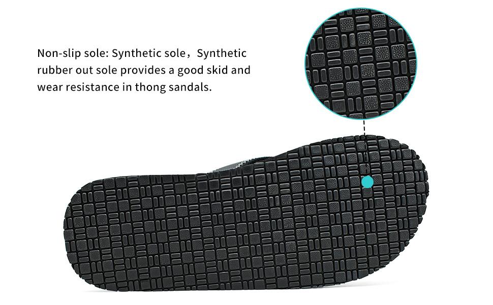 black flip flops for men