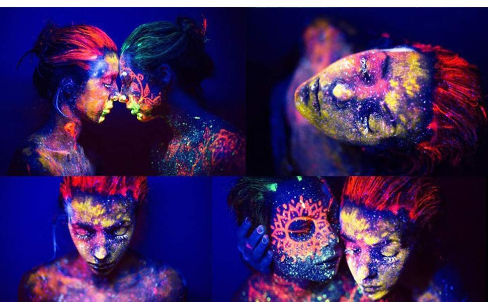 uv face body paint kit